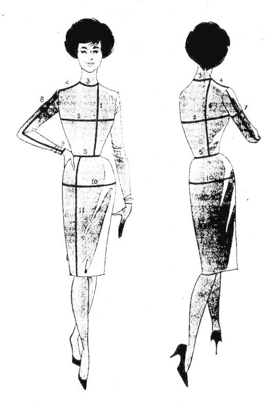Ilustração de Gil Brandão sobre tirar medidas, de 1959.