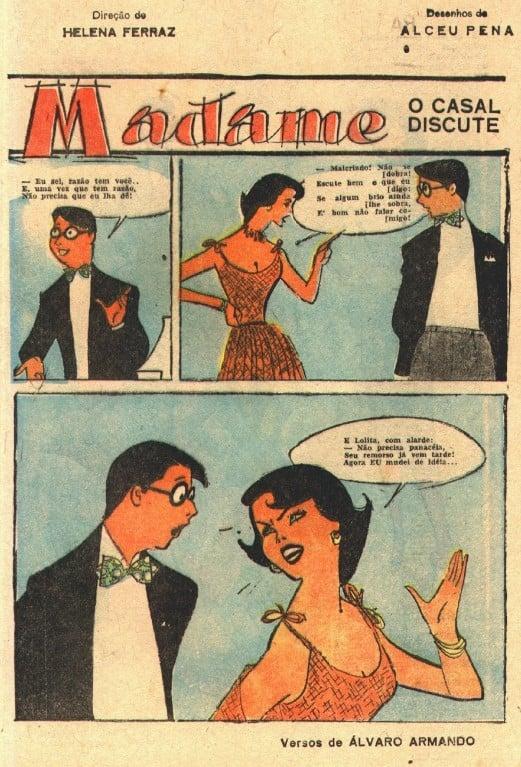 """Quadrinho """"Madame""""."""