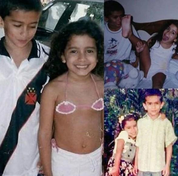 Anitta e o irmão Renan - Reprodução