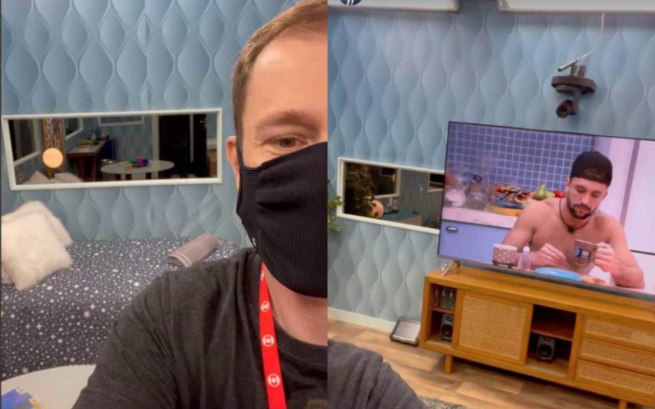 Tiago Leifert mostra quarto secreto do BBB21 - Reprodução