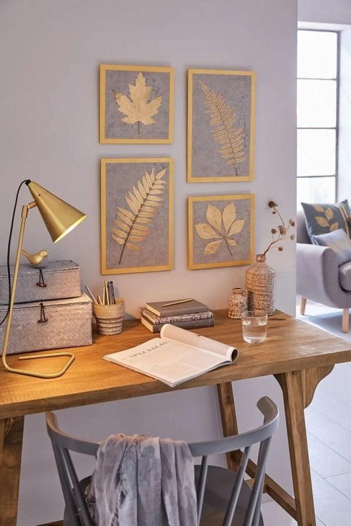 Home office azul.
