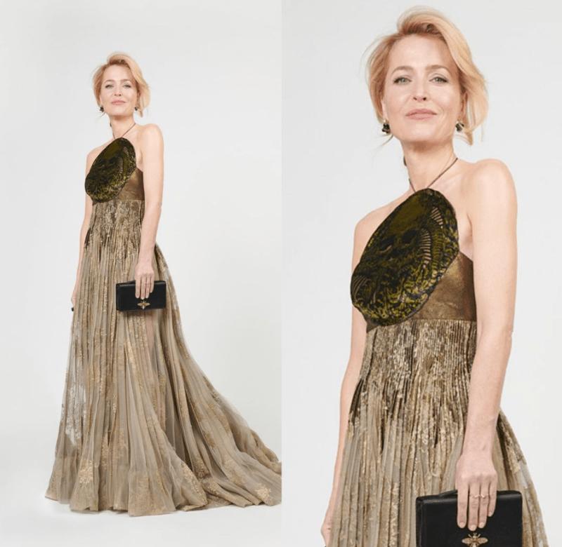 Emma Thompson Vestido Dior Globo de Ouro 2021