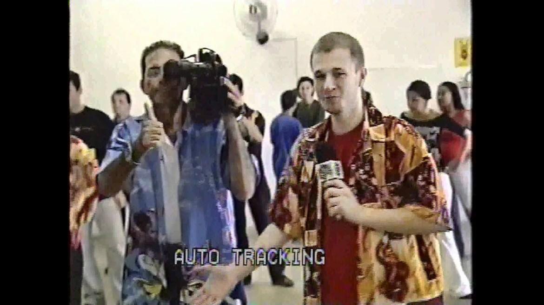 Tiago Leifert na TV Vanguarda - Reprodução