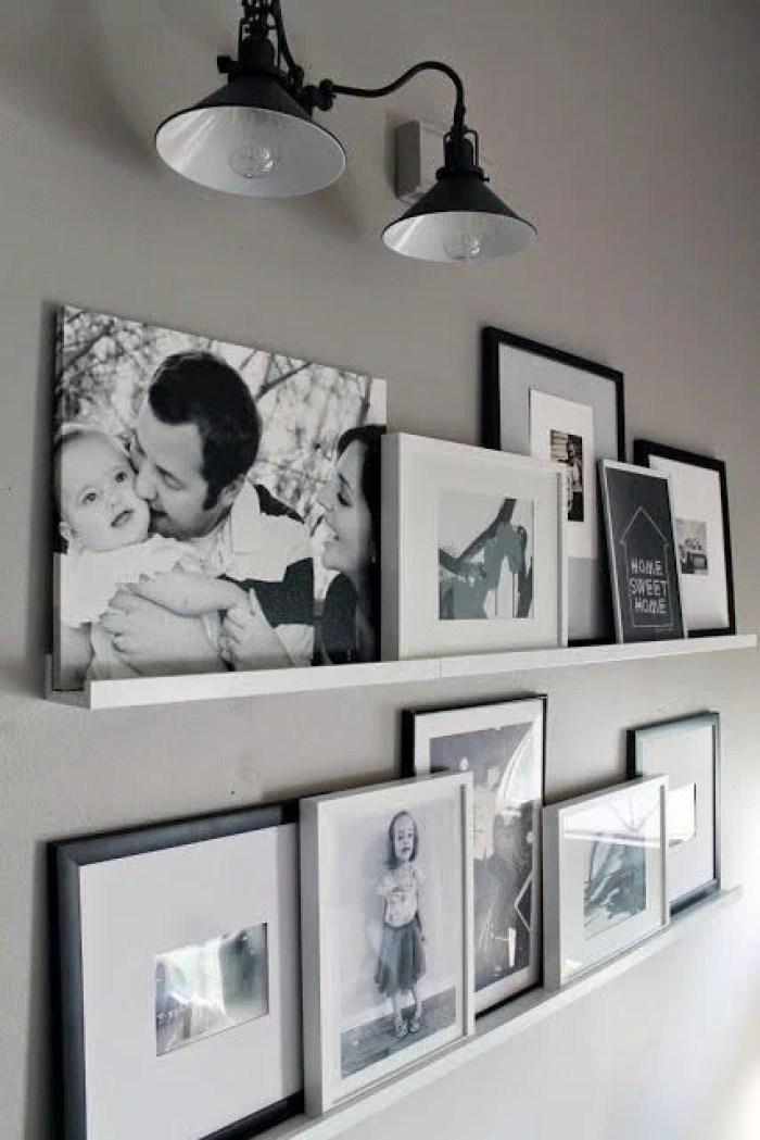 Fotos em preto e branco.