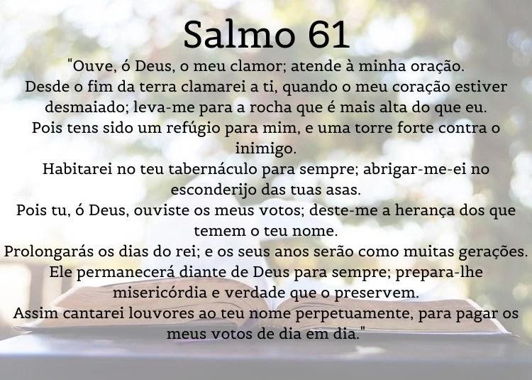 foto de Bíblia com salmo 61 escrito por cima