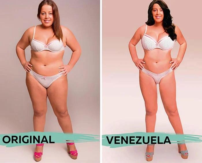 ideal de beleza na Venezuela