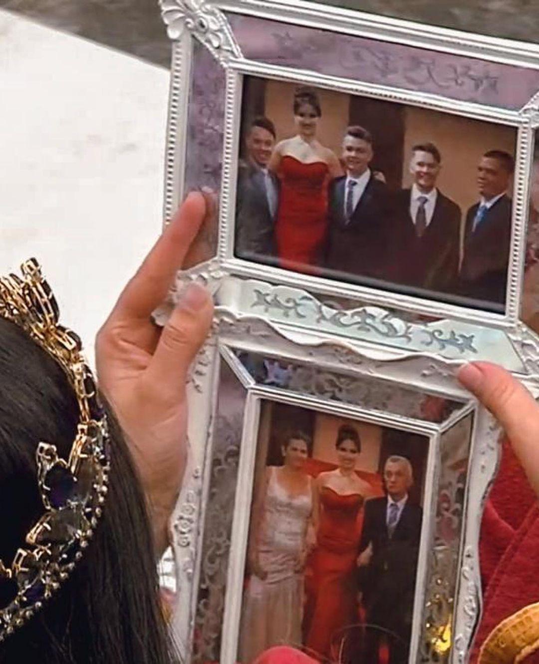 Familiares de Juliette em porta-retratos do BBB 21.