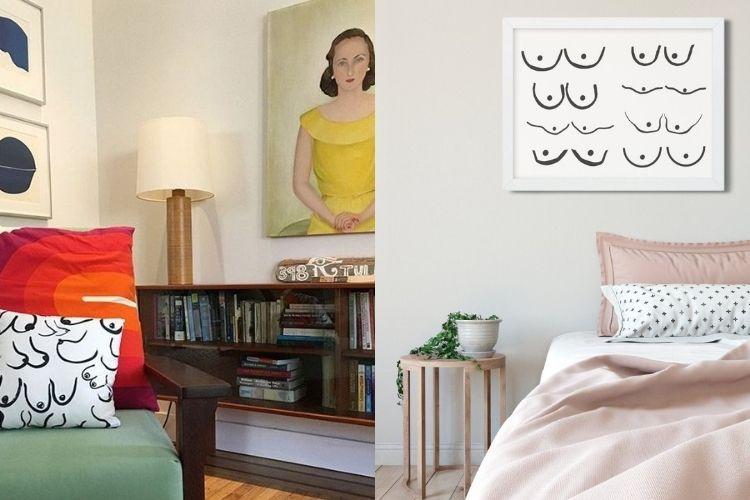 decoração feminina para sala