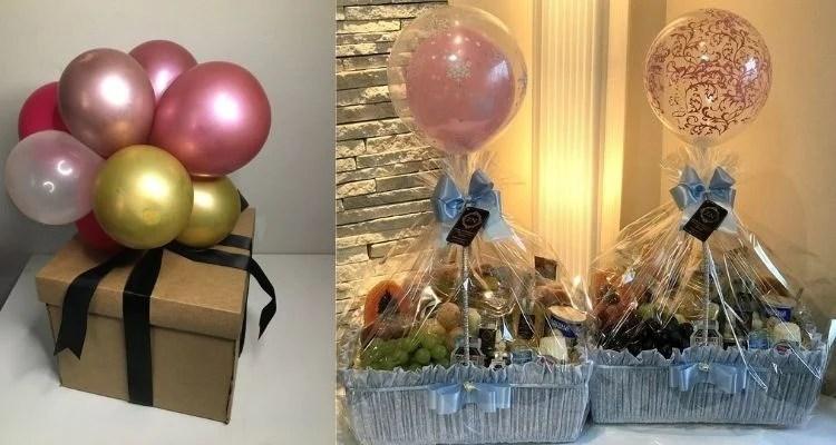 cesta com balões