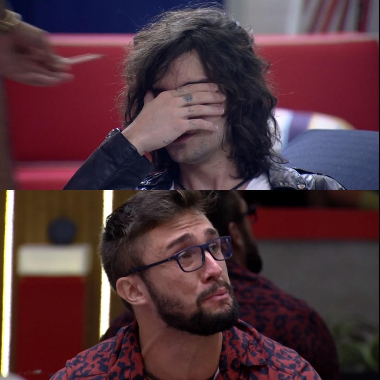 Fiuk e Arthur choram após desavenças no Jogo da discórdia.