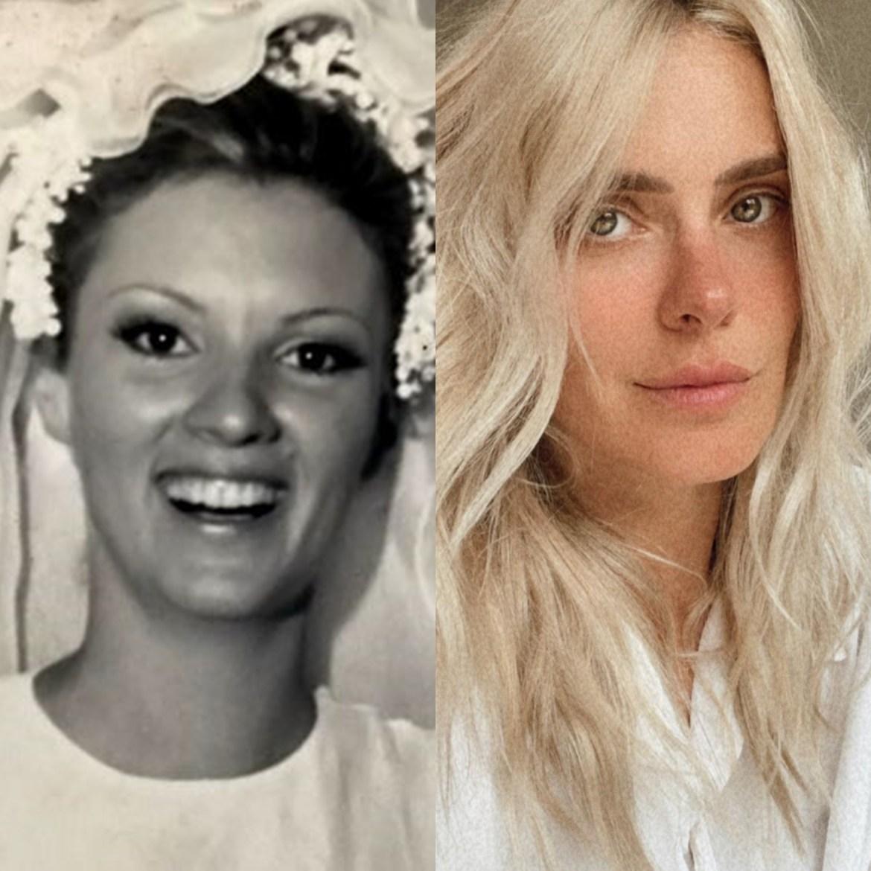 Mães de celebridades: Mamãe de Carolina Dieckmann mais jovem.