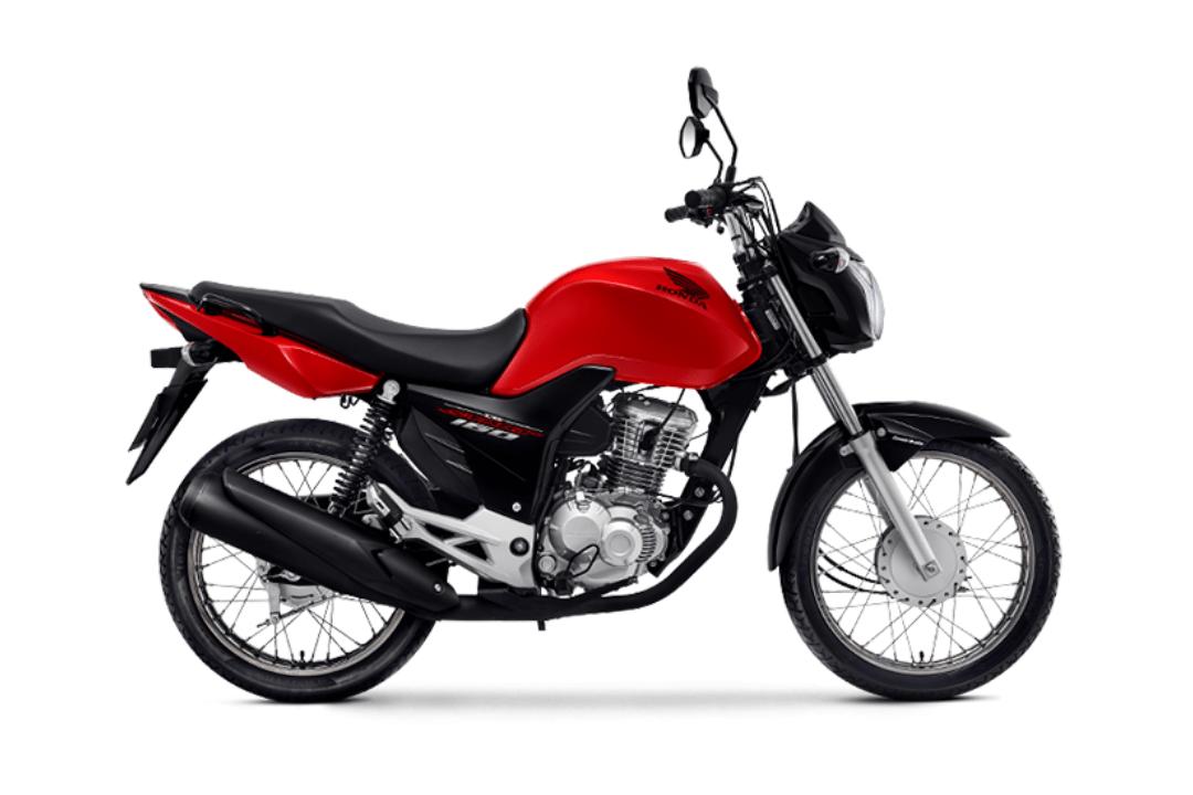 Imagem de uma Honda CG 160 Start vermelha.