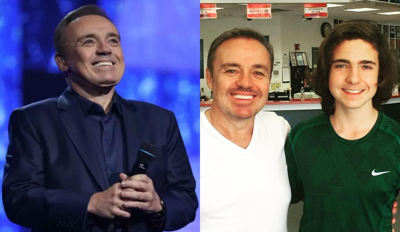 Gugu Liberato e filho, João Augusto.