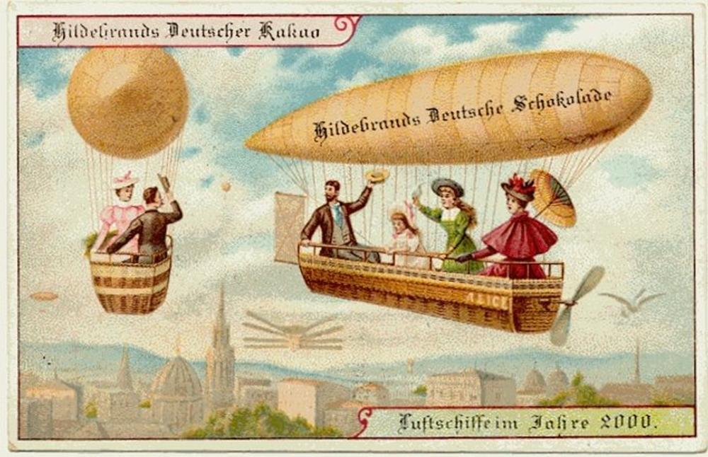 Transporte público - antepassados imaginavam para o futuro.