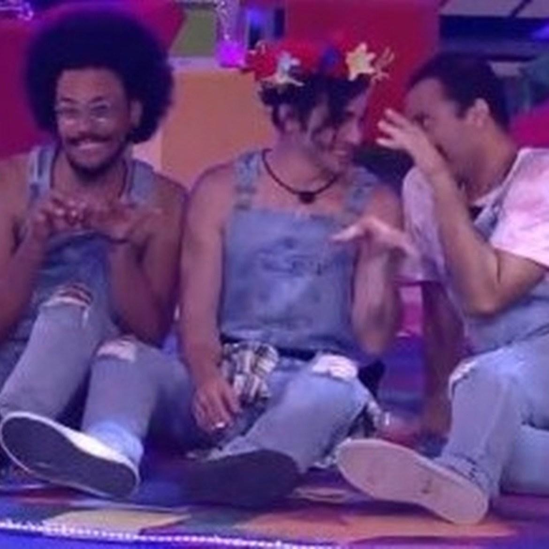João Luiz, Fiuk e Gilberto.