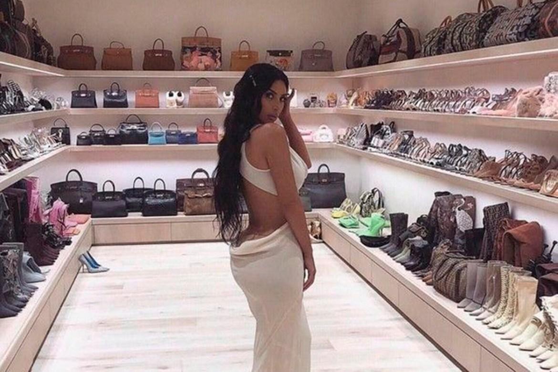 Closet da mansão de Kim Kardashian
