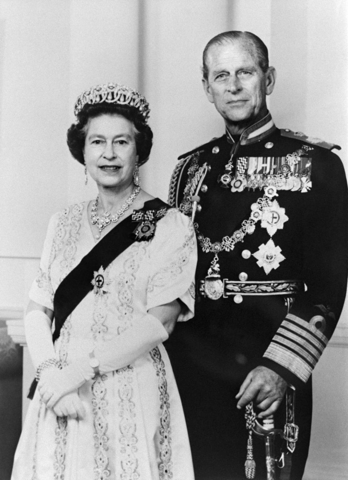 Foto oficial do casal real.