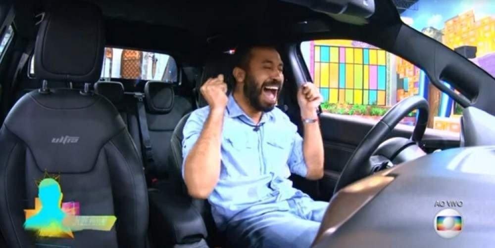 Gilberto ganhando carro na prova do líder - Globo bbb 21