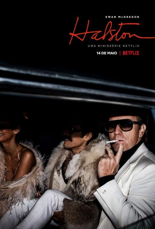 Cartaz da série Halston, com Ewan McGregor.