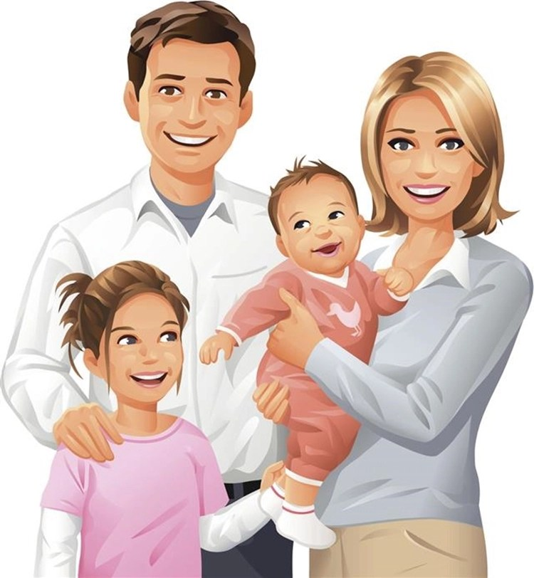 Família, desenho.