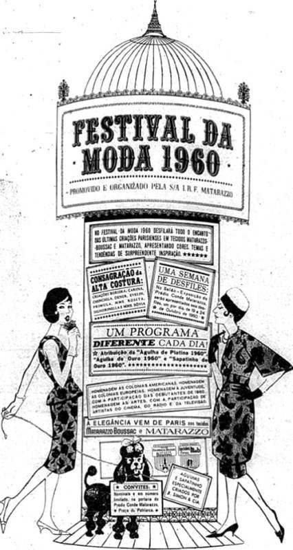 Cartaz de um Festival de Moda organizado em 1960 pela I. R. F. Matarazzo.