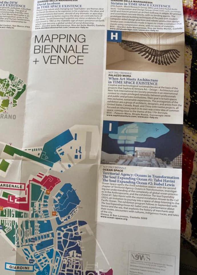 A obra Amazon Tears em destaque no Mapa oficial da 17 Bienal de Veneza em 2021