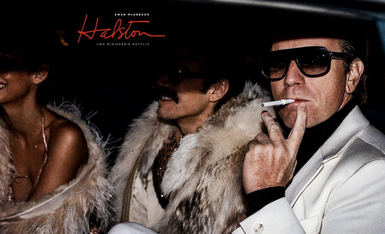 Cartaz da série Halston.