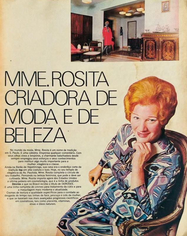 Matéria de uma revista com Madame Rosita.
