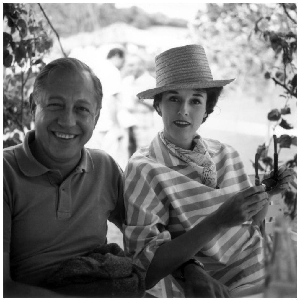 Babe Paley em 1953 com o seu marido William Paley.
