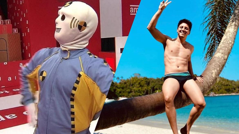 Thadeu Torres é do RJ. Ele foi um dos Dummies do BBB 21 (montagem: Fashiom Bubbles)