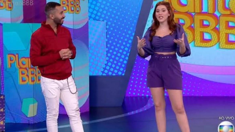 Gil fez muito sucesso na programação da Globo depois do BBB 21. O público pede a volta do Vídeo Show com ele e Ana Clara (imagem: reprodução)