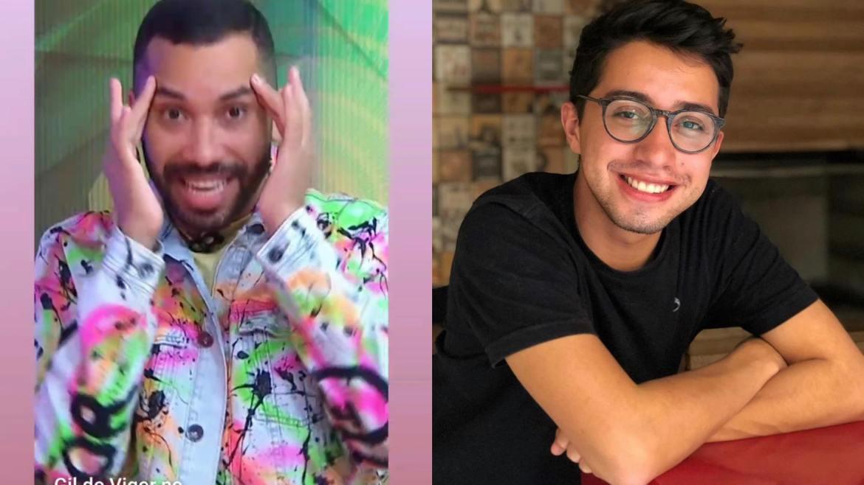 Gil do Vigor, após deixar o BBB 21, está paquerando o produtor da Globo SP (montagem: Fashion Bubbles)