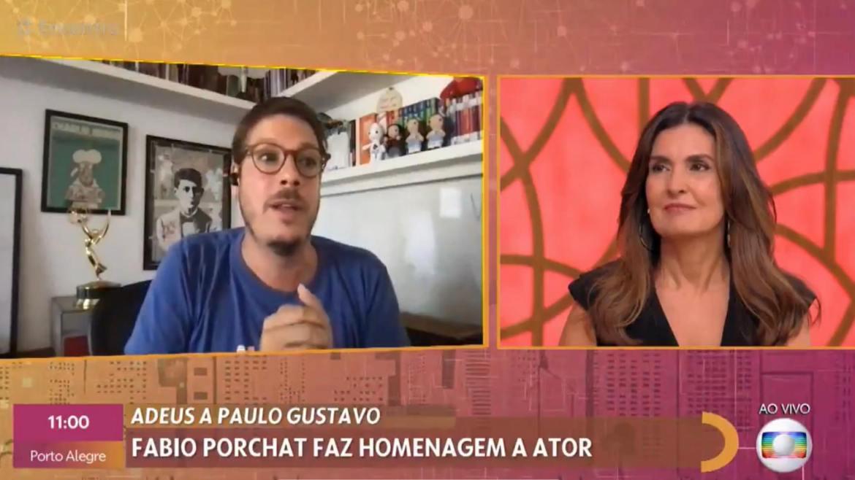 Fábio Porchat, também falou de Paulo Gustavo no Encontro com Fátima Bernardes (imagem: reprodução/ Globo)