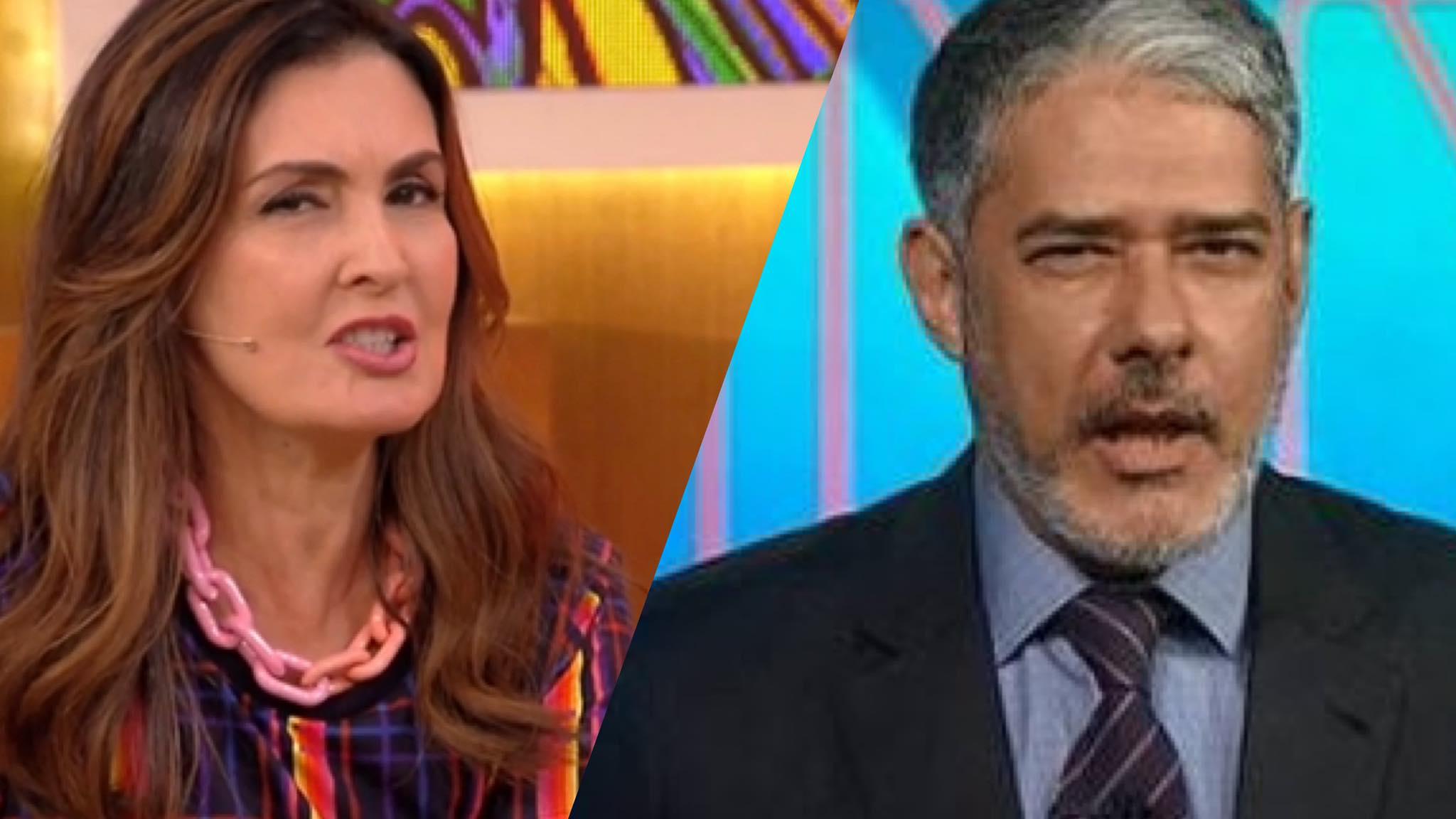 Fátima Bernardes fala o que achou sobre o seu ex surgir de barba (montagem: Fashion Bubbles)