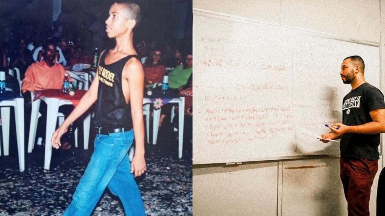 Gil do Vigor convidou o pai Sr. Gilberto para assisti-lo desfilar aos 13 anos. No entanto Sr. Giberto recusou (montagem/ Fashion Bubbles)