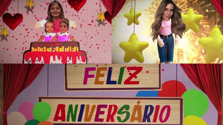 Ivete ganha vídeo de Marcelo, Marina e Helena (montagem: Fashion Bubbles)