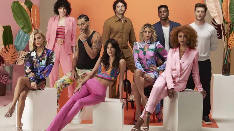 Bruna Marquezine, Manu e grande elenco estão na série Maldivas, da Netflix (imagem: divulgação)