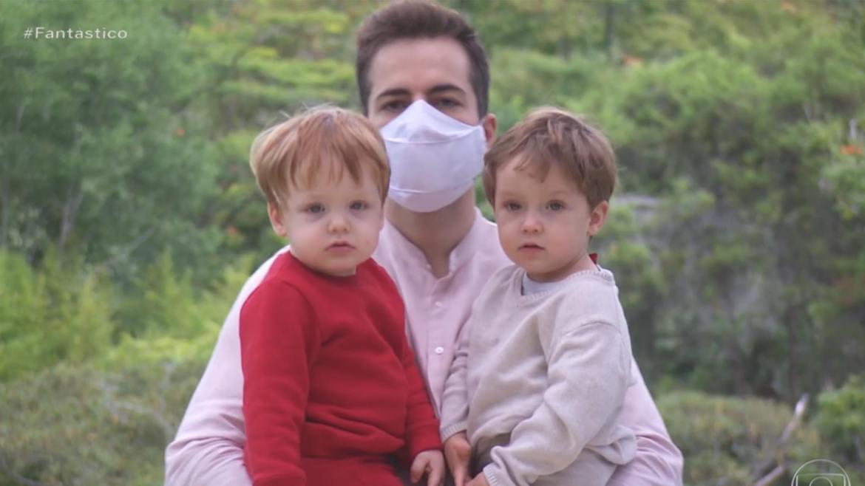 """Thales afirma que os filhos perguntam sobre o """"papai Paulo"""": (imagem: Reprodução/ Globo)"""