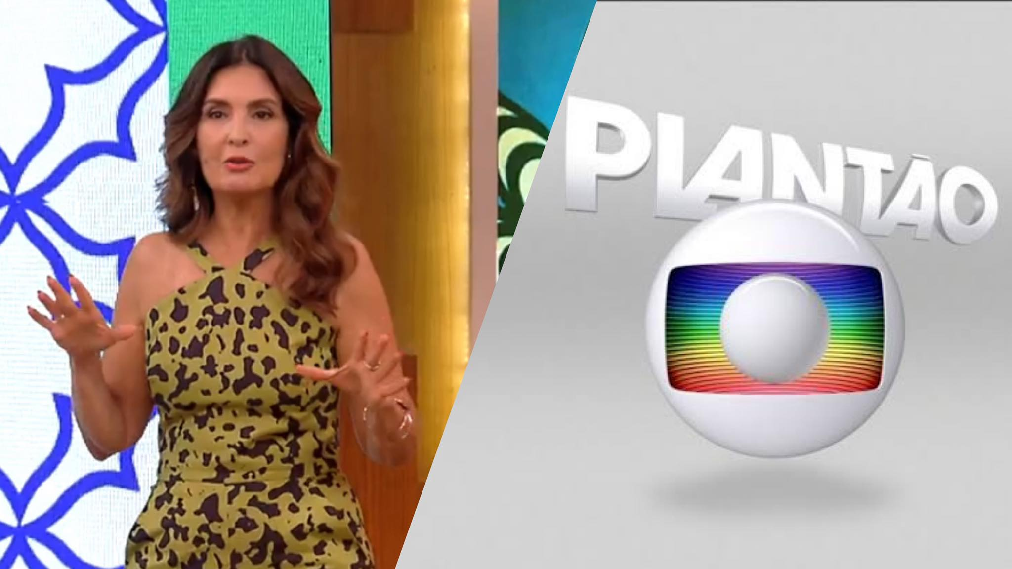 Plantão da Globo invade o Encontro com Fátima (montagem; Fashion Bubbles)