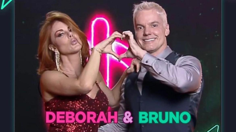 Deborah Albuquerque e Bruno Salomão estão no Power Couple 5 da Record TV (imagem: divulgação)