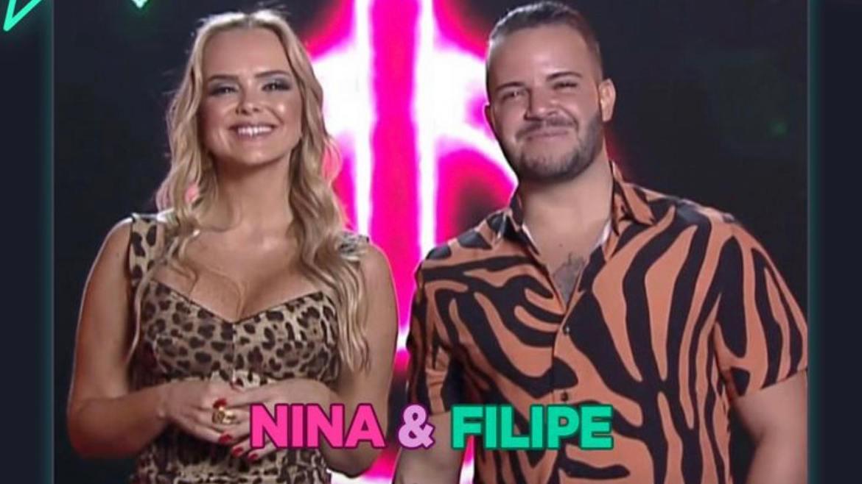 Filipe Duarte, ex- Br'Oz, e sua esposa Nina Cachoeira estão na disputa pelo premio que pode chegar à R$1 Milhão (imagem: divulgação)