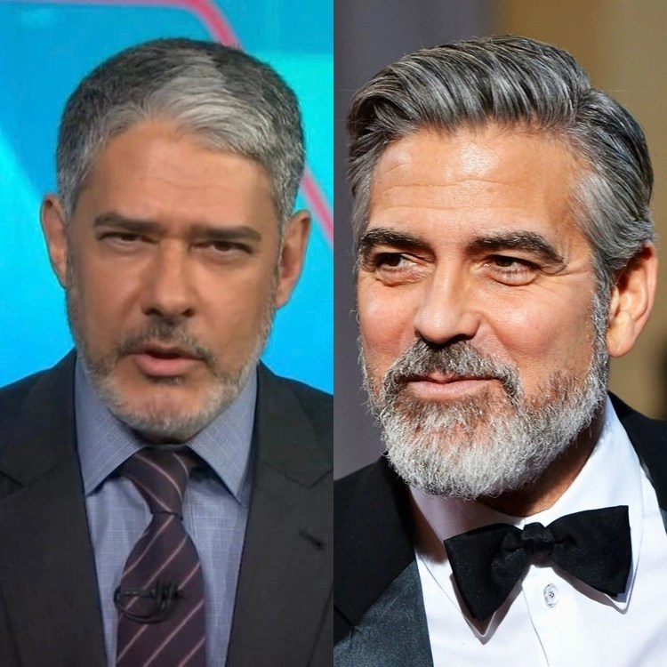 William Bonner é comparado com George Clooney.