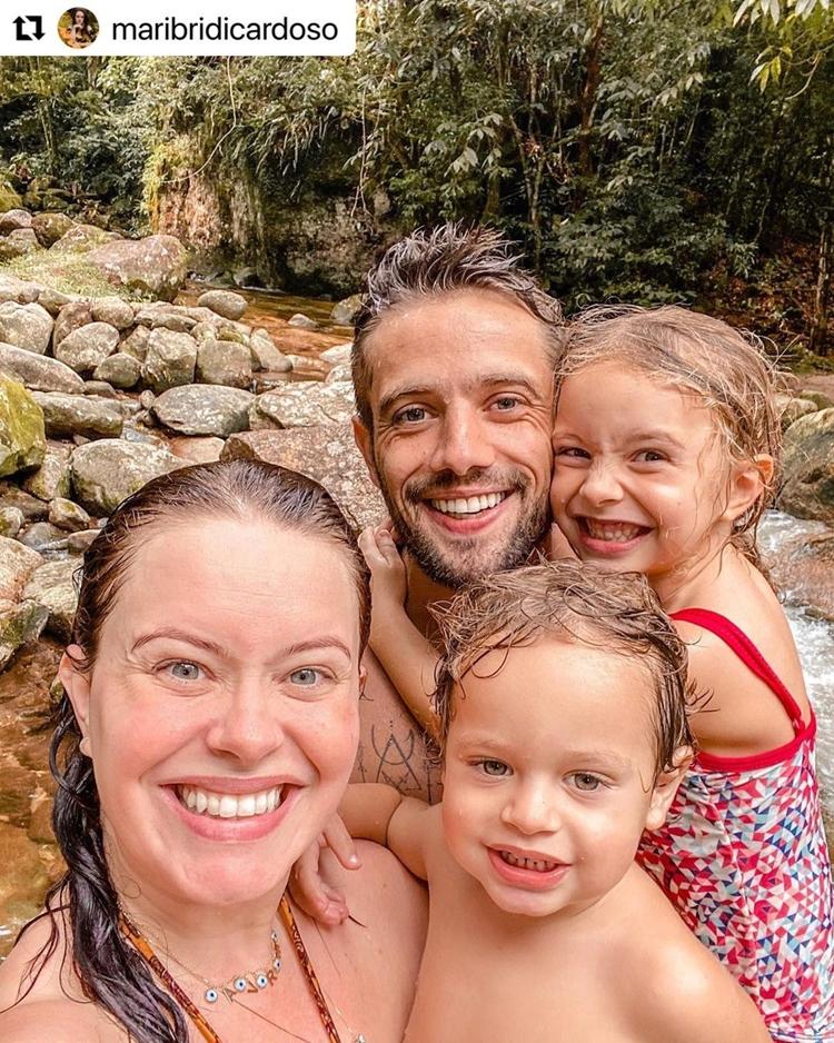 Esposa e filhos de Rafael Cardoso.