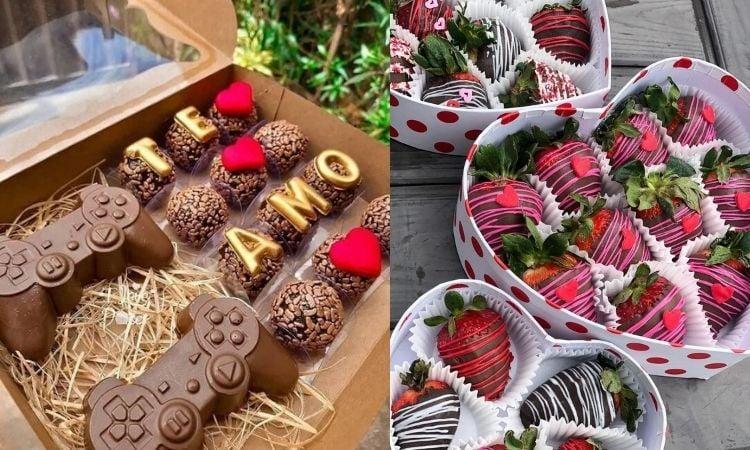caixa de chocolates para o Dia dos Namorados