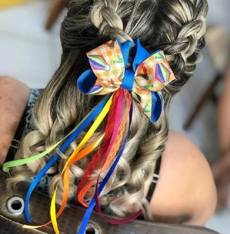 penteado festa junina