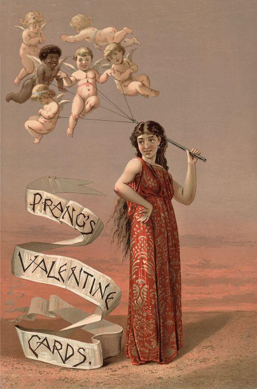 Cartão de Dia dos Namorados de 1883.