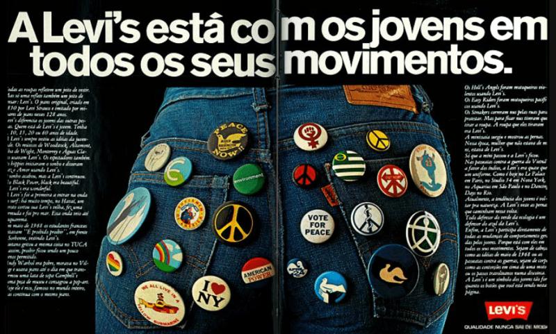 Publicidade vintage da Levi´s Brasil.