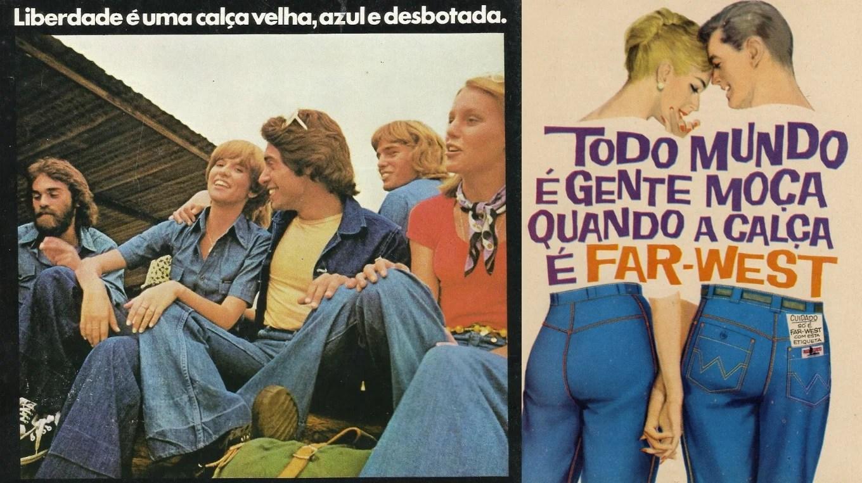 Publicidade do Jeans da US TOP e da Alpargatas.