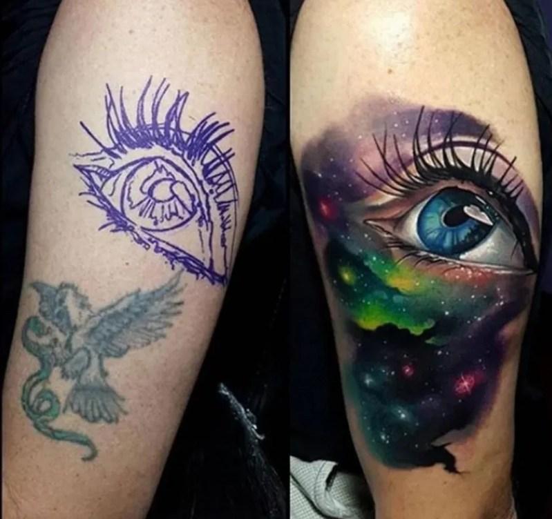 imagem de como cobrir tatuagem no braço