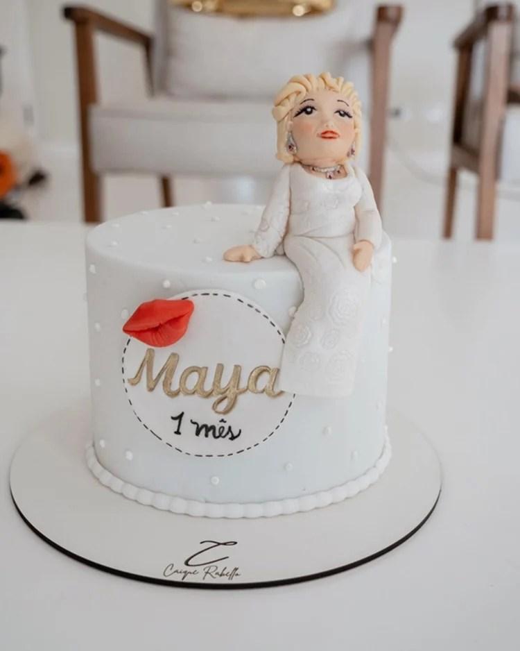 Foto do primeiro bolo de Maya.